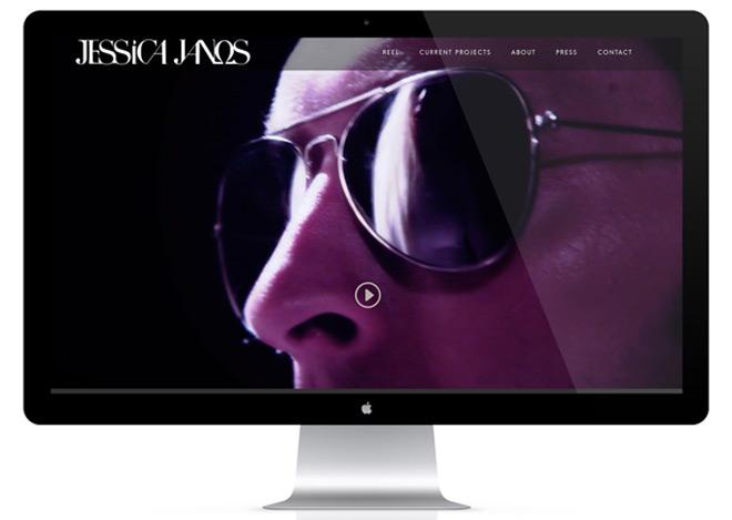Jessica Janos Homepage MockUp